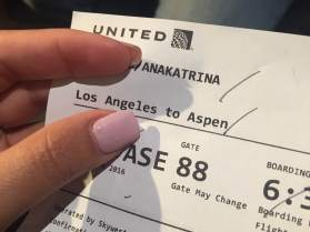 Early flight to Aspen.